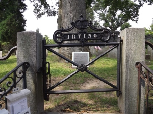 the Irving Family plot