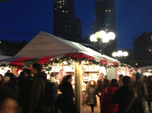 my favorite shot from New York: the Union Square Holiday Market (best experienced while sipping Italian Dark hot Chocolate from Max Brenner's which, by the way, I was)