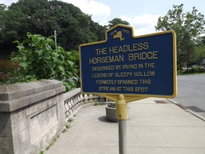 "modern plaque on ""bridge"""