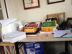 That's my desk right now covered in things I have to take care of today...  but at least I'm not working.