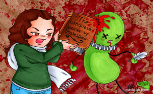 Yup.  It's me.  Slaying zombie Shakespeare.  Because I roll that way.